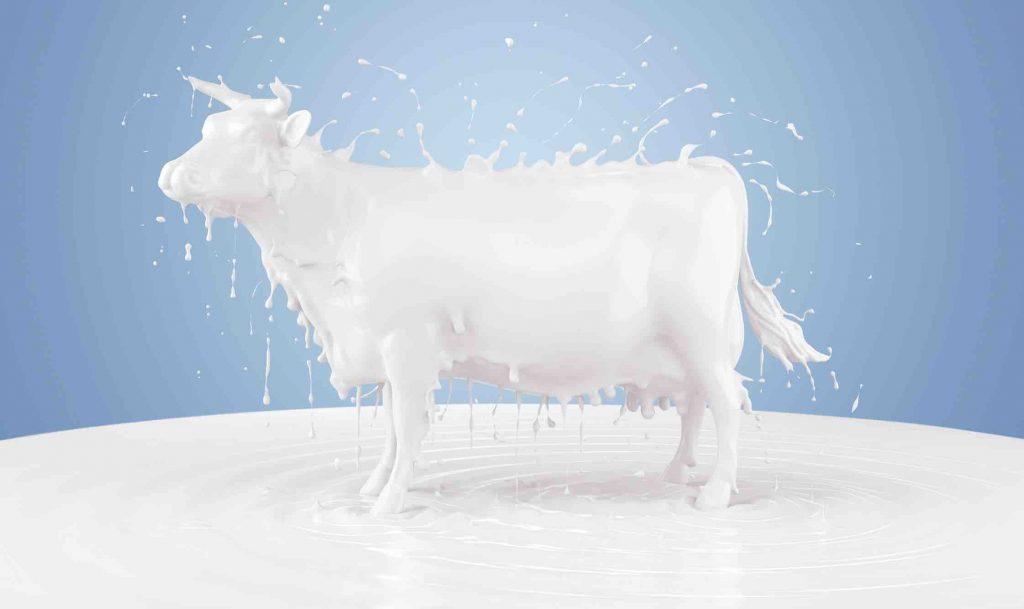 leche de almendras o leche de vaca